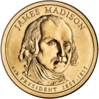 James Madison $1 Coin obverse