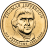 Thomas Jefferson $1 Coin obverse