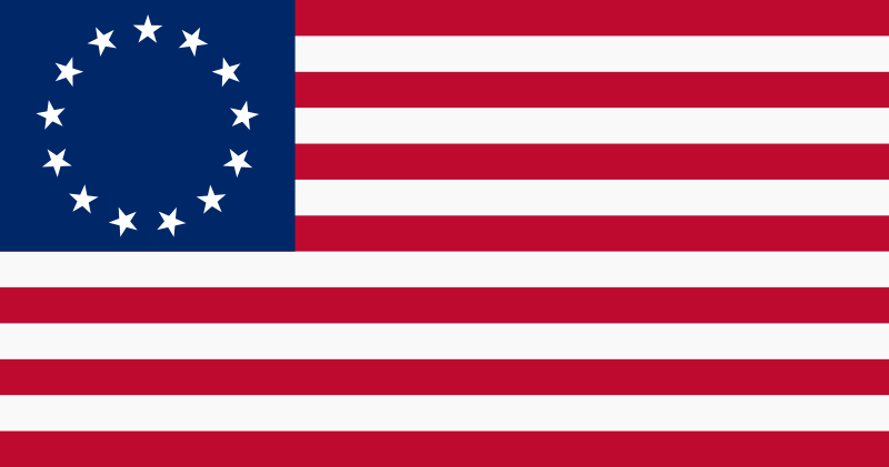 of the American Flag over
