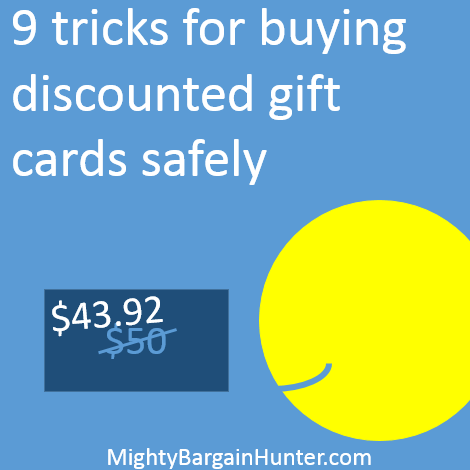 Nine tricks for buying discounted gift cards safely