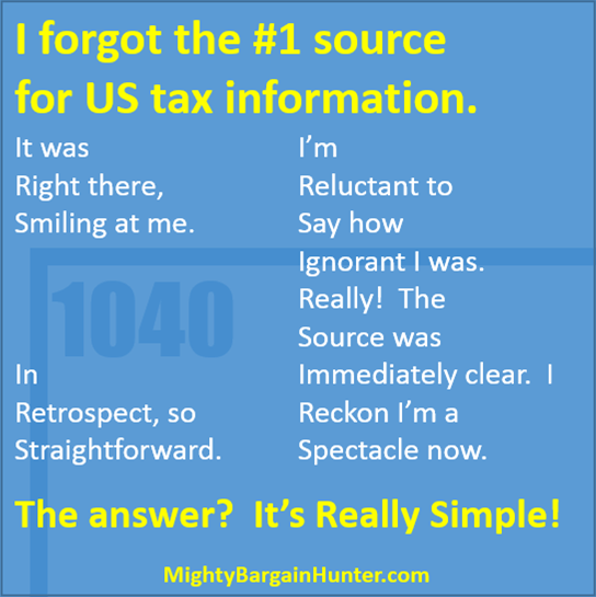 The #1 source of tax info. It's Really Simple!