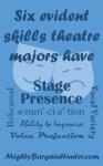 Six evident skills theatre majors have