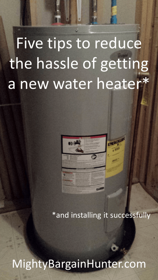 five tips for getting and installing a new water heater
