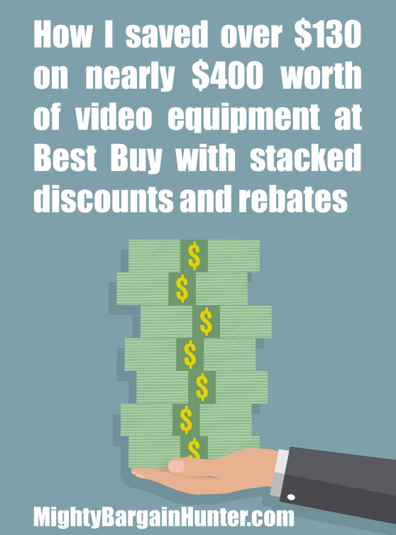 Stacking discounts and rebates at Best Buy - Mighty Bargain Hunter
