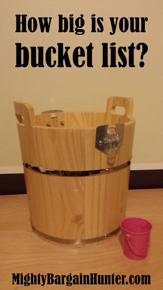How big is your bucket list?