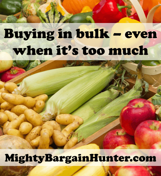 Buying in bulk even when it's too much