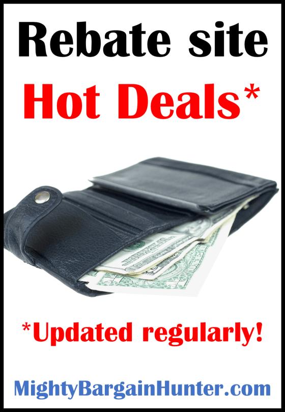 Rebate site hot deals - updated regularly