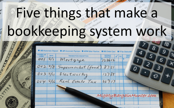 Five things that make a bookkeeping system work