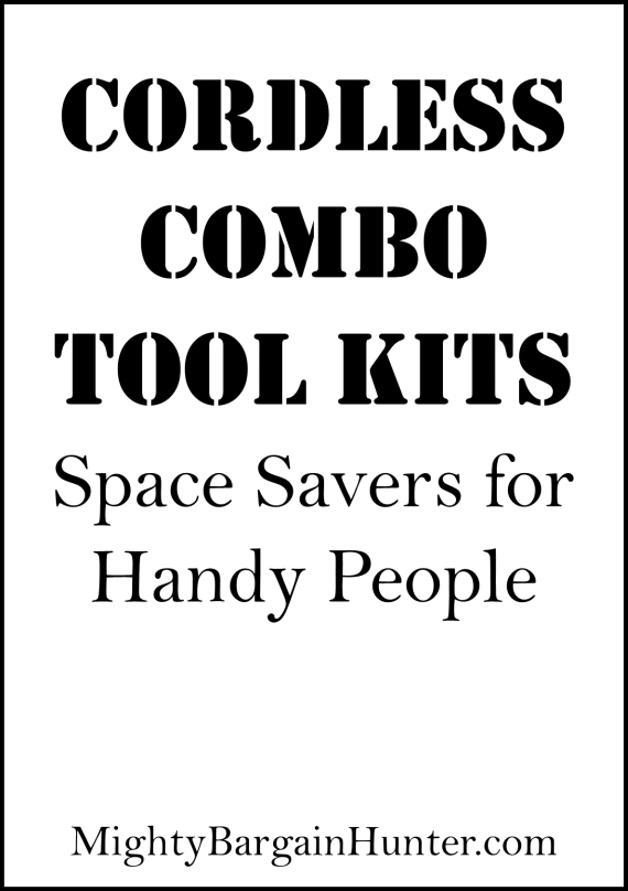 Cordless combo tool kits: Space-savers for handy people
