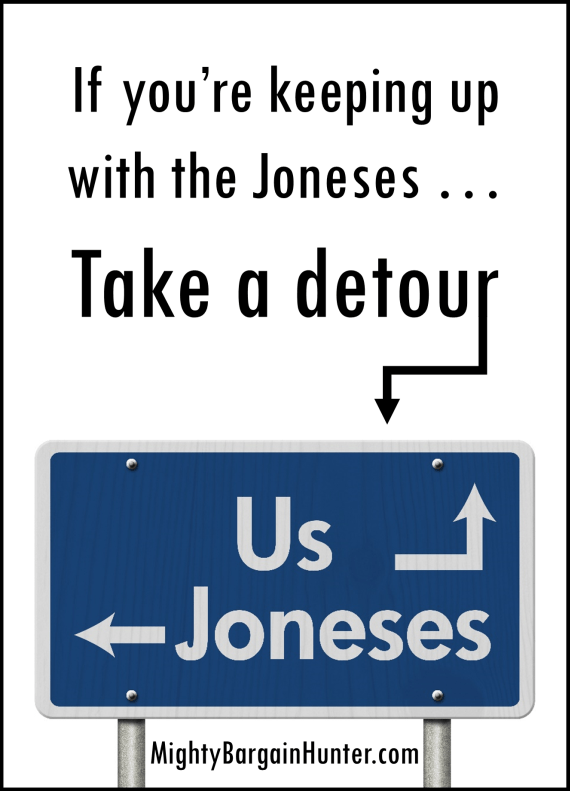 Why you don't want to keep up with the Joneses