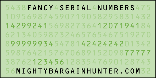 Serial Number Dollar Bill Font Name