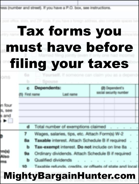 Tax forms you must have before filing your taxes